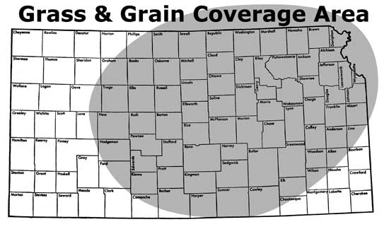 Grass & Grain coverage area